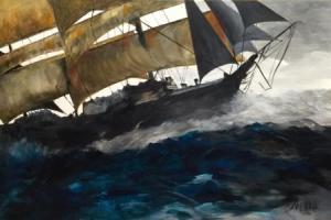 Clipper Acrylic on master's canvas