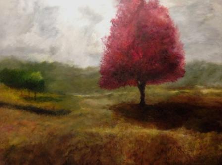 Landscape wit Maple Tree