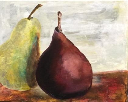 Two Pears Acrylic, sold